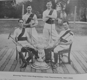 Winning Team Inter-Regimental Polo Tournament 1907-1908