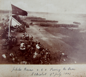 The Tenth at the Jubilee Review at Aldershot 9th July 1887
