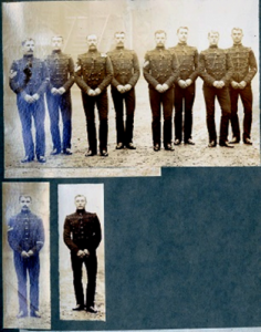 The Pall-Bearers. N. C. O.s and men of the Tenth