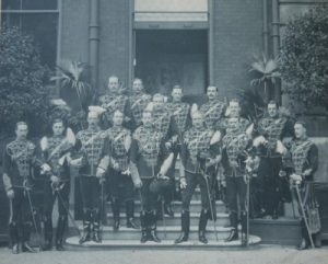 Officers of the Regiment circa 1890. HRH The Duke of Clarence centre